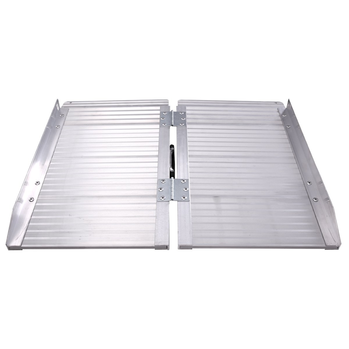 2' Aluminum Fold Portable Wheelchair Ramp Mobility Handicap Suitcase Threshold w/Handle by thegreatshopman