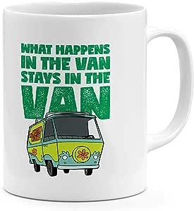 قدح قهوة Scooby Doo Van سعة 325.3 مل مع اقتباس Scooby Doo - كوب حديث من السيراميك
