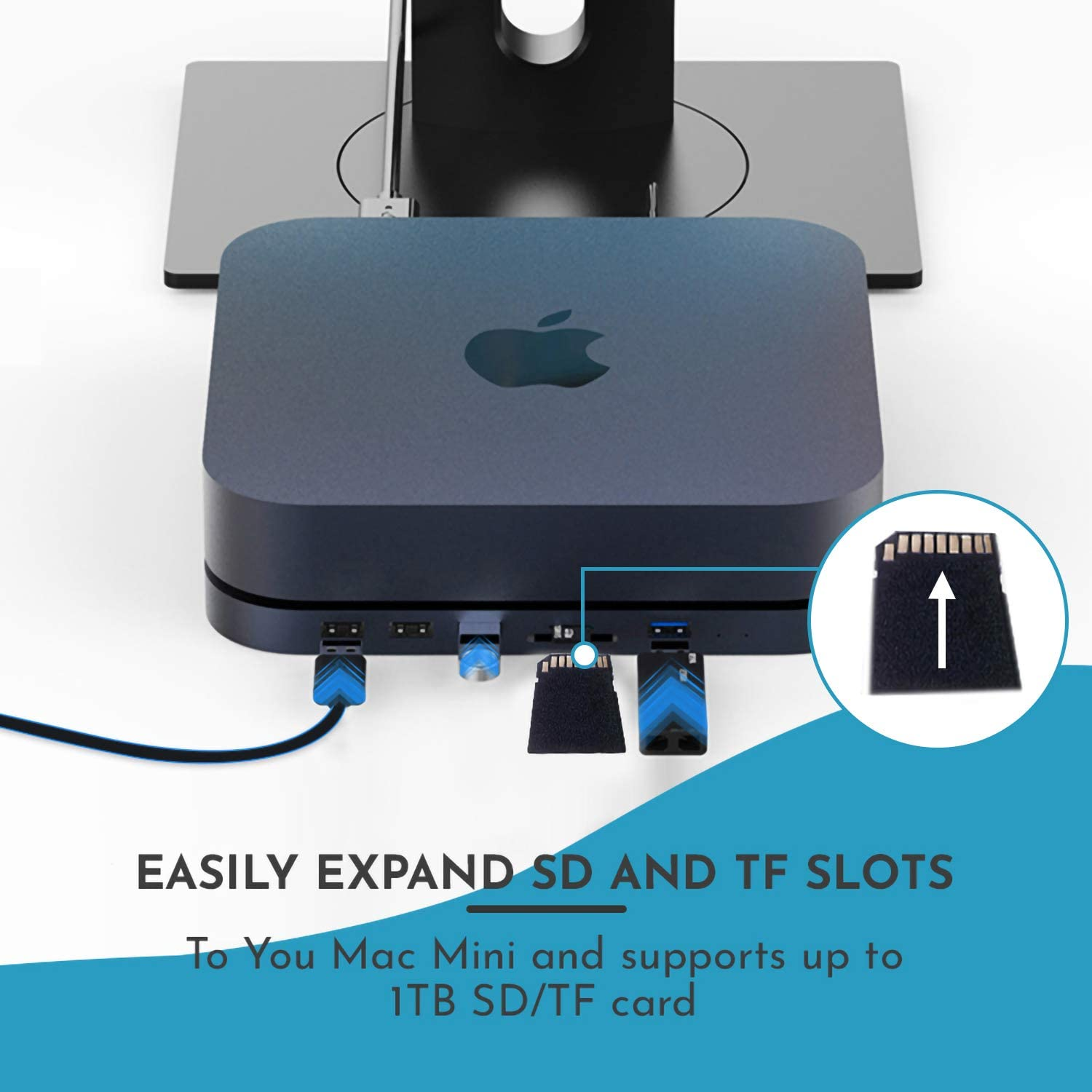 USB 3.0 Port Evolve 7-in-1 Type-C Docking Station with a Solid Enclosure for 2.5 SATA SSD//HDD Grey USB 2.0 Port and SD//TF Card Reader Compatible with Mac Mini2018//2020/&M1 and MacBook Pro.