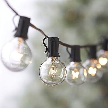 25ft Weatherproof Globe String Lights with 25 G40 Bulbs  Indoor Outdoor  Use  Perfect25ft Weatherproof Globe String Lights with 25 G40 Bulbs  Indoor  . Garden Patio Lights Uk. Home Design Ideas
