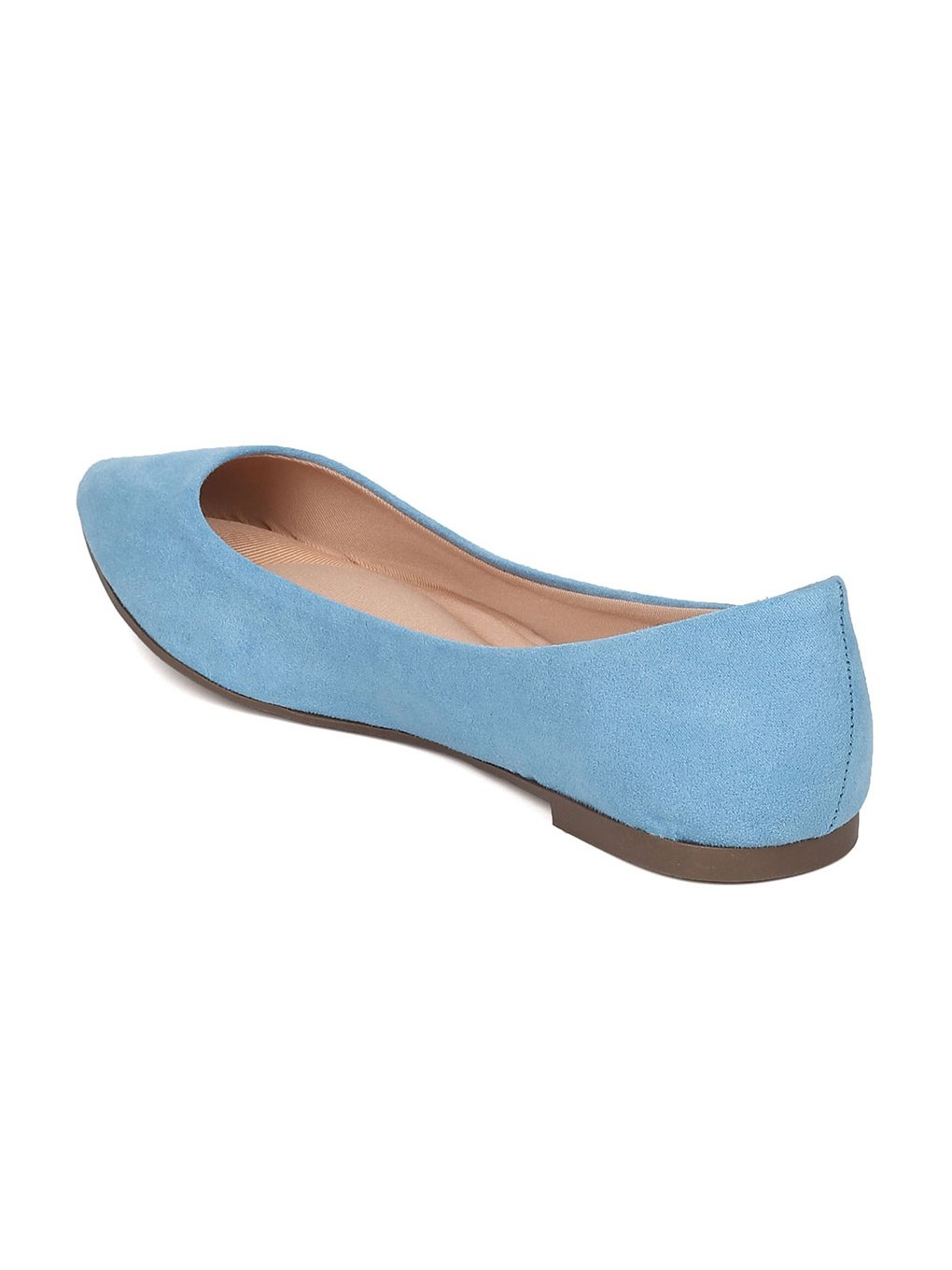 Breckelle's Women Faux Suede Pointy Toe Ballet Flat GH13 B06XYTFD21 7.5 M US Blue