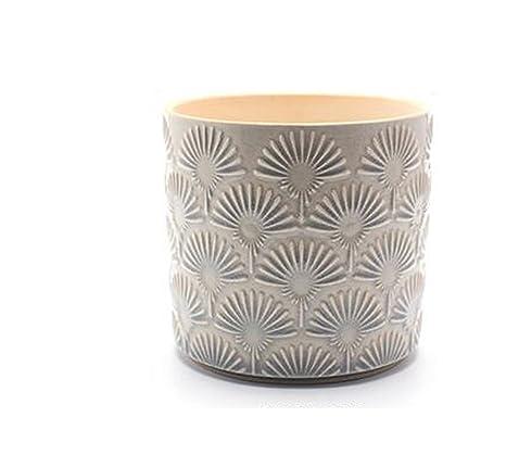 Amazon com : Better-Way Cylinder Embossed Ceramic Planter
