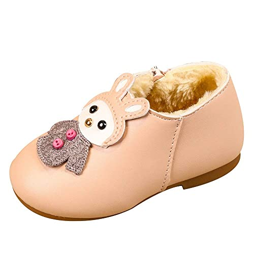 Botines Invierno Niñas, LANSKIRT Bebé Niña Caliente Dibujos Animados Zapatos de Cuero Agregar Algodon Calzado Deportivo Botas Cortas Zapatos de Zapato Botas ...