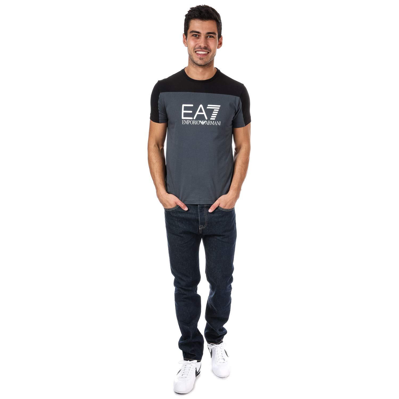 25d8c81f0ff971 Emporio Armani Mens Ea7 Train Tritonal T-Shirt in Anthracite: Emporio Armani  EA7: Amazon.co.uk: Clothing