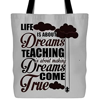 Amazon.com  Making Dreams Come True Tote Bags - Shopping Canvas Bags ... 50fa3848c4055