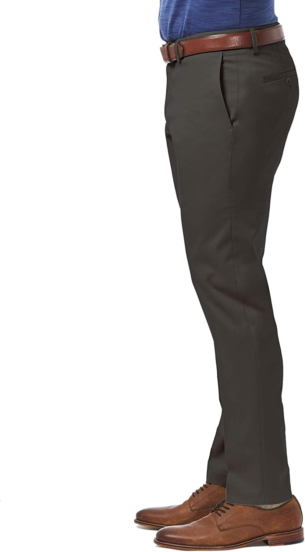 Haggar Men's Casual Pants Dark Grey