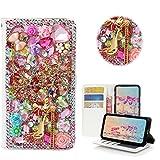STENES iPhone 8 Plus Case - Stylish - 3D Handmade Bling Crystal Snow Girls High Heel Rose Flowers Desgin Wallet Credit Card Slots Fold Media Stand Leather Case for iPhone 7 Plus/iPhone 8 Plus - Pink