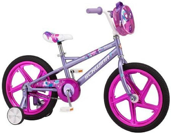 Schwinn Shine - Bicicleta para niña (45,7 cm), Color Morado ...