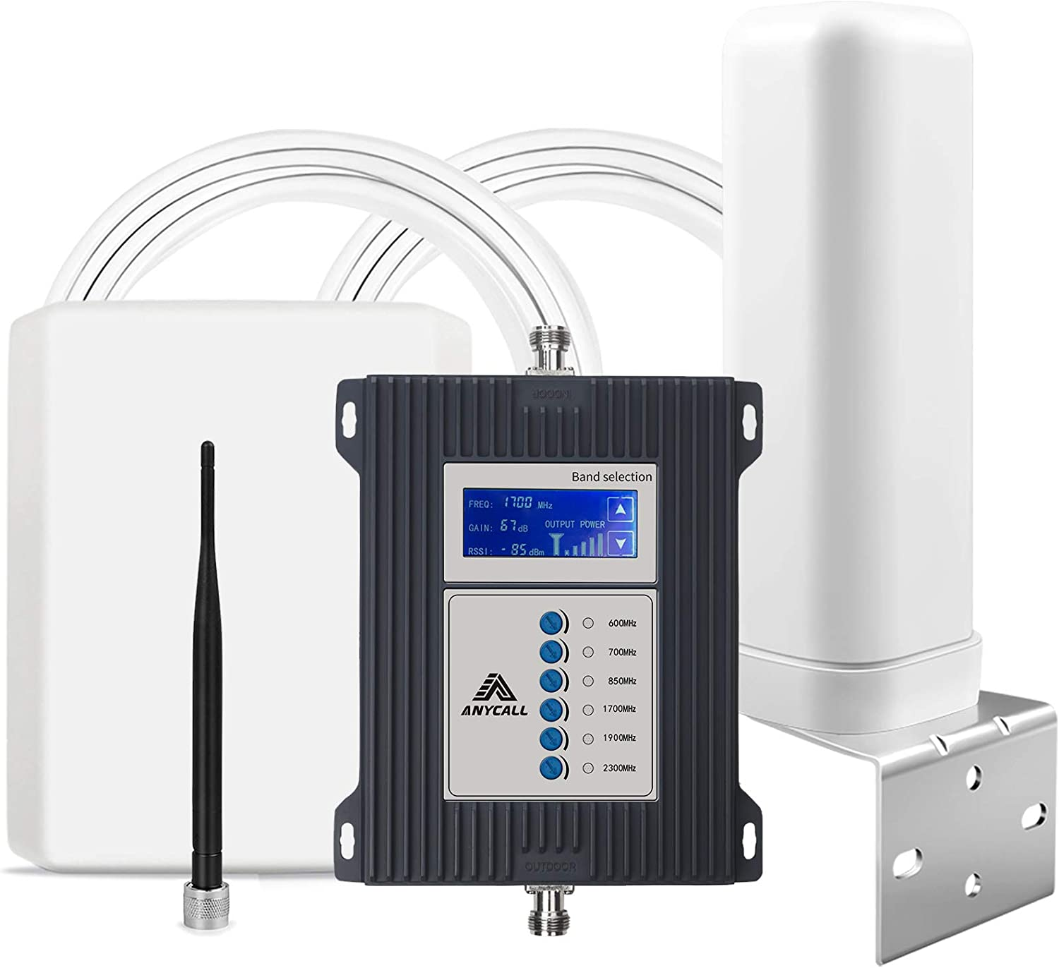 5G Ready Cell Phone Booster 7 Band Mobile Signal Booster Cellular Service Repeater Amplifier Kit for Home/Office/RV - Boost 3G 4G LTE 5G Voice & Data for All US Carriers AT&T Verizon T-Mobile Sprint