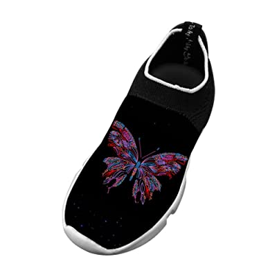 LUCCM Butterfly Childrens Sports Shoes Unique Footwear Fly Knit Shoes EVA Fashion Sneaker For Boy/Girl/Kid