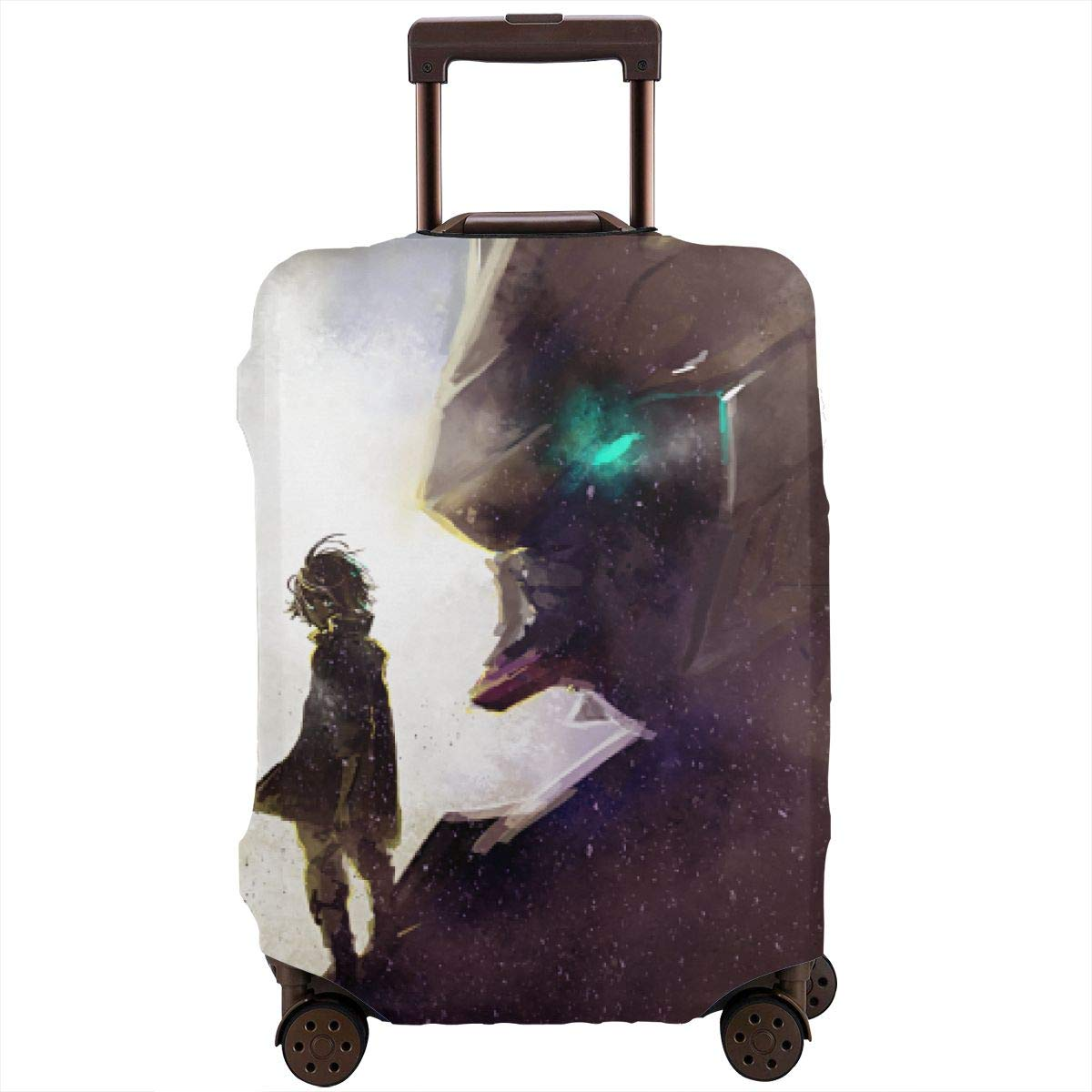 Washable Spandex Luggage Bag Cover Protector Fits 29-32 Inch Suitcase Sleeve Movie Night Print Design