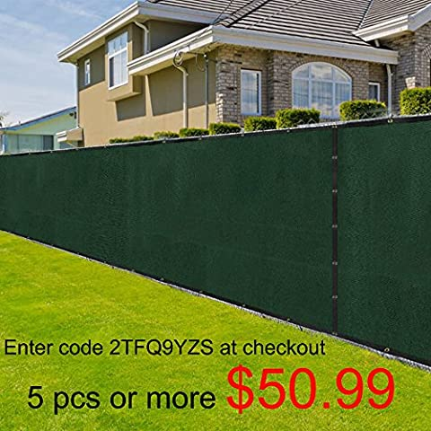 Amagabeli Fence Privacy Screen 8x50 for Chain Link Fence Fabric Screening with Brass Grommets Outdoor 8ft Construction Site Garden Patio Porch Fencing 90% Blockage Shade Tarp Mesh UV Resistant - Chain Link Wire