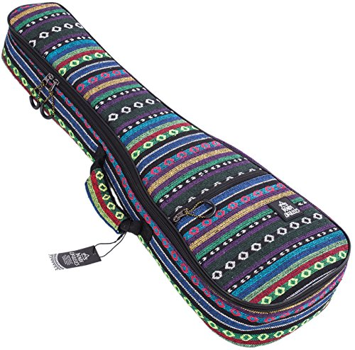 Ukulele Case Soprano Size Bororo 8 Official Colors Double woven carry handle Adjustable backpack straps Ultra Thick Padding with Enhanced Glide Zipper