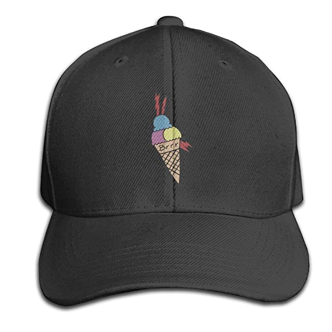 Gucci Mane Ice Cream Tattoo Baseball Peaked Cap Ash Black: Amazon ...