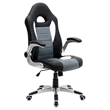 MORE4HOMES CRUZ SPORT RACING CAR OFFICE CHAIR LEATHER ADJUSTABLE