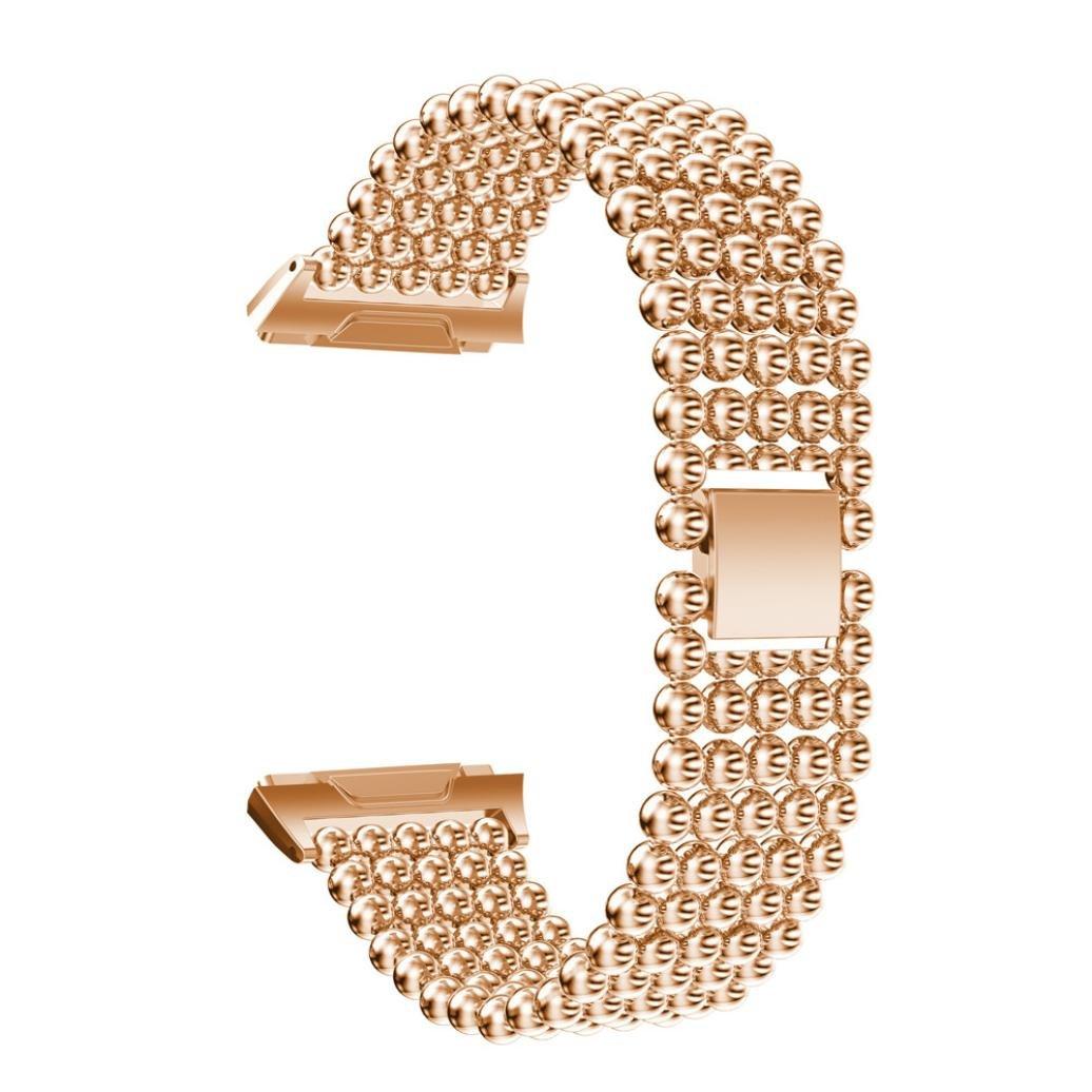 Lisinリストバンドfor Fitbit Ionic、新しい高級合金クリスタル時計バンド手首ストラップfor Fitbit Ionic  ローズゴールド B076SB7SL2