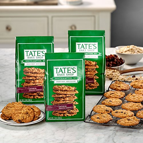 Tate's Bake Shop Oatmeal Raisin (Pack of 3) (Kathleen's Cookies)