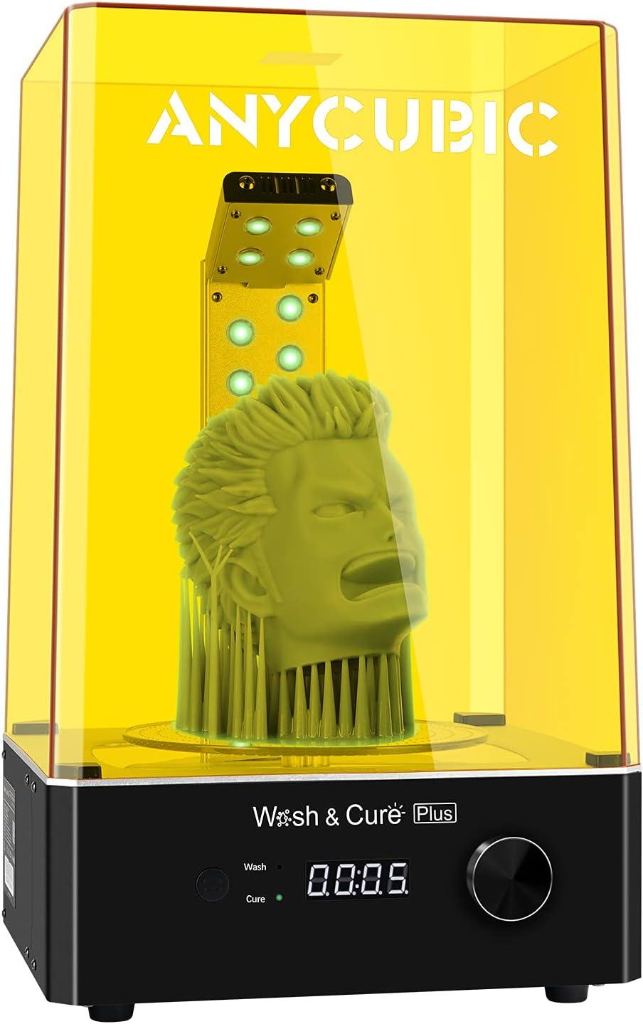 ANYCUBIC Wash & Cure Plus - Máquina de lavado y endurecimiento 2 en 1 para impresoras LCD/DLP/SLA 3D con mesa de endurecimiento giratoria 360°, tamaño máximo de lavado 192 x 120 x 290 mm
