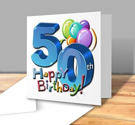 Biglietto Di Auguri Di Buon Compleanno 50 Anni Maschio