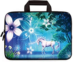"11"" 11.6"" 12"" 12.1"" 12.5"" inch Laptop Carrying Bag Chromebook Case Notebook Ultrabook Bag Tablet Cover Neoprene Sleeve Fit Apple MacBook Air Samsung Google Acer HP DELL Lenovo Asus(Cute Unicorn)"