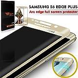 """Galaxy S6 Edge Plus Pellicola Protettiva, TEFOMATE® Pellicola Protettiva Temperato di Vetro Tempered Glass Full Screen Protector per Samsung Galaxy S6 Edge Plus / S6 Edge + 5.7"""" [3D Curvo Schermo Intero] (Gold)"""