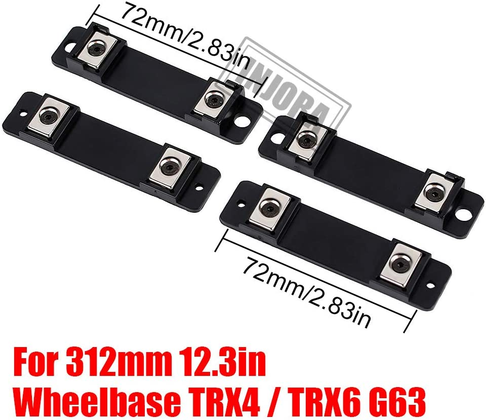INJORA RC Corpo Montante 4pcs RC Body Post Mount RC Accessori Set per 1:10 RC Crawler Car 312mm Wheelbase Traxxas TRX4 TRX6 G63