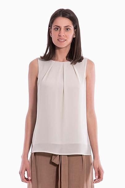 ae265576d6c7 CANNELLA MAGLIA BLUSA MAGLIE T-SHIRT DONNA ORIGINALE 107296 PE 2018 NEW  Colore principale GESSO Taglia S  Amazon.it  Abbigliamento