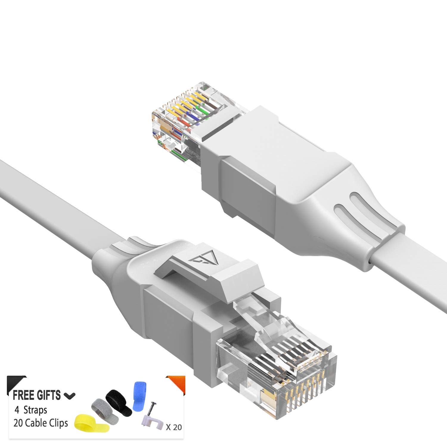 at a Cat5e Price but Higher Bandwidth Cat 6 Ethernet Cable 25 ft Black Computer LAN Cable Cat6 Internet Network Cable Flat Ethernet Patch Cable Short Enjoy High Speed Surfing
