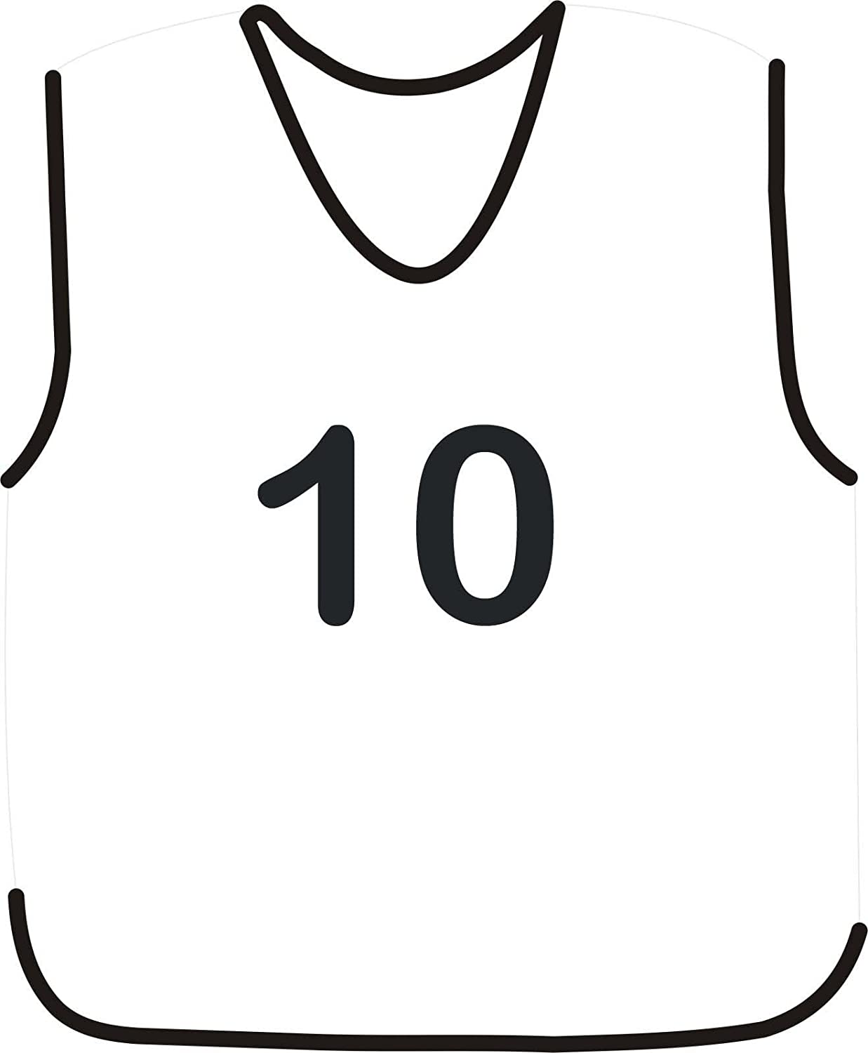 10 FOOTBALL MESH TRAINING SPORTS BIBS NUMBERED (1-10 OR number of your choice) PROSTYLE SPORTS
