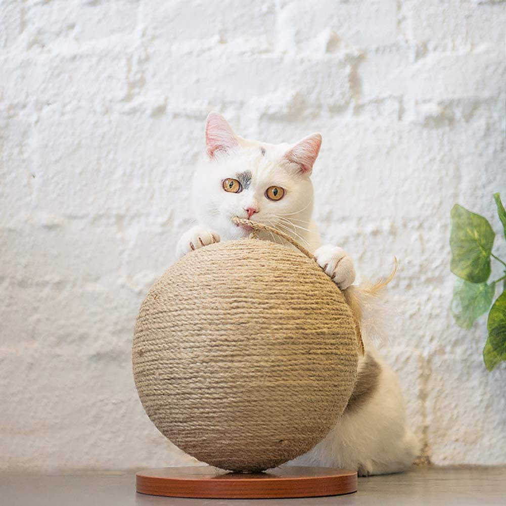 with Scratching Posts And Feather Gaxyd Cat Tree Tower Cat Climbing Frame Furniture 24 Cm Sisal Cat Toy Catching Ball 20