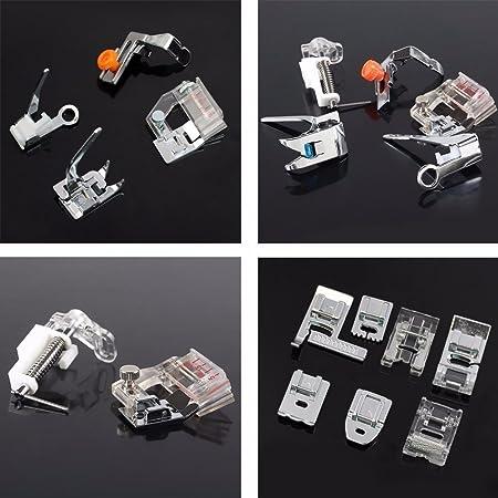 Baban Juego de accesorios para máquina de coser, 32 unidades, prensatelas, pie de teflón, para Brother, Singer: Amazon.es: Bricolaje y herramientas