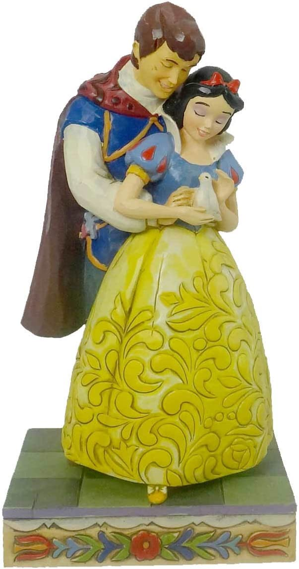 Jim Shore Someday Is Today Snow White Prince Charming – Stone Resin 6.00 IN