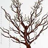 BalsaCircle 30 inch Tall Natural Glittered Manzanita Tree with Acrylic Garlands - Wedding Decorations Tabletop Decor Centerpieces Party Supplies
