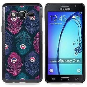 Stuss Case / Funda Carcasa protectora - Ojo pluma trullo colores en colores pastel - Samsung Galaxy On5 O5