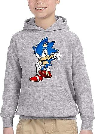 HGdggvd Sonic The Hedgehog Sudadera con Capucha para niños ...