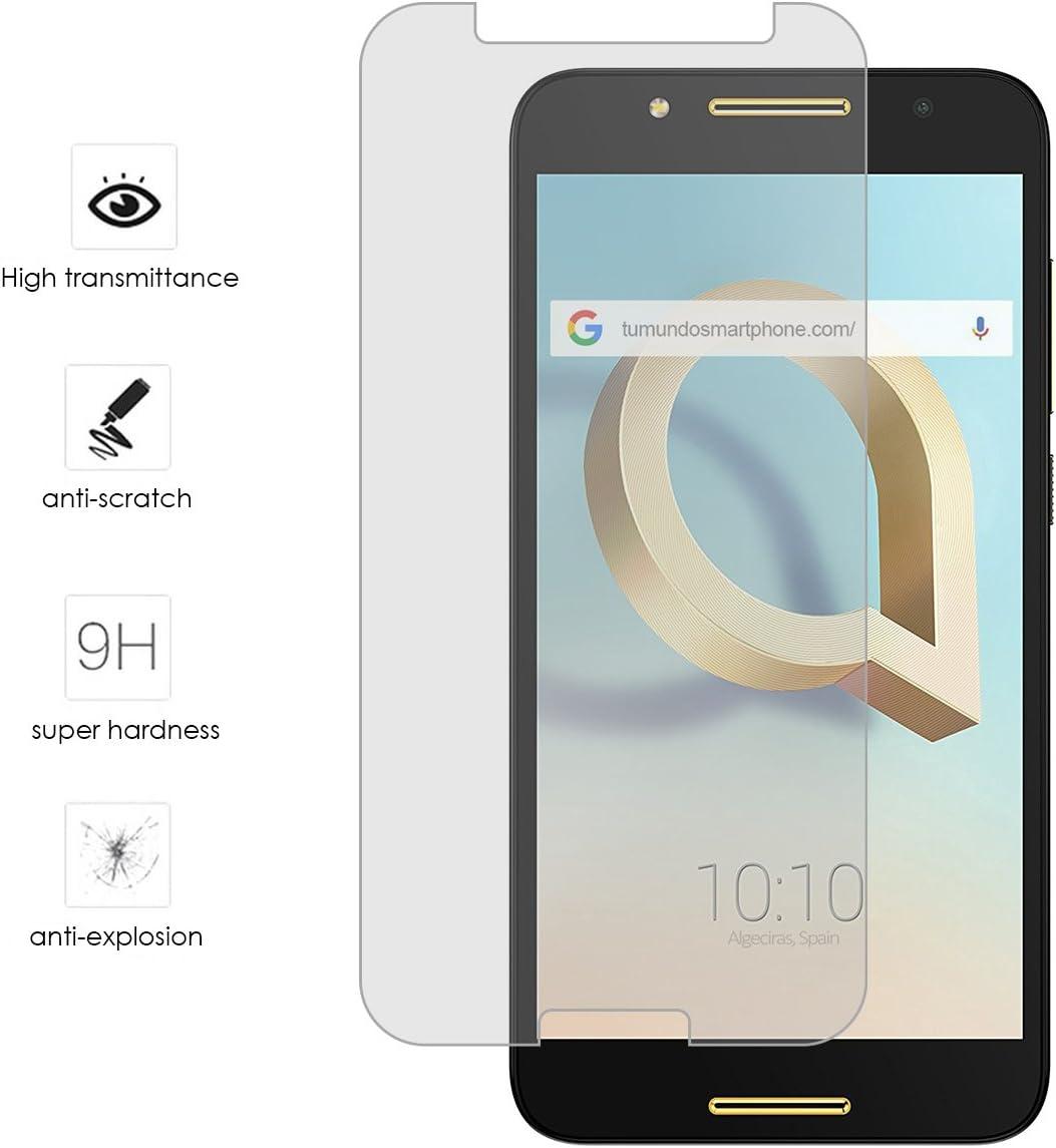 Tumundosmartphone Protector Cristal Templado para ALCATEL A7 (4G): Amazon.es: Electrónica