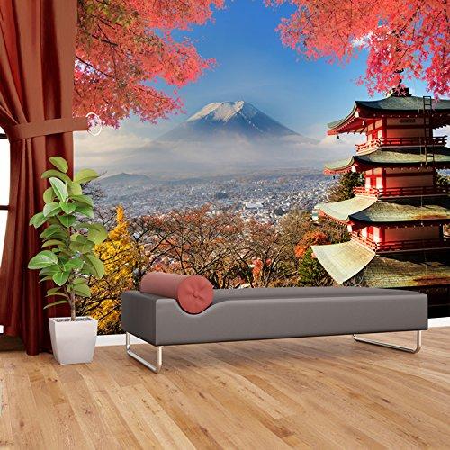 azutura Mt Fuji Japan Wall Mural Volcano Mountain Photo Wallpaper Lanscape Home Decor available in 8 Sizes Gigantic - Volcano Mt Japan Fuji