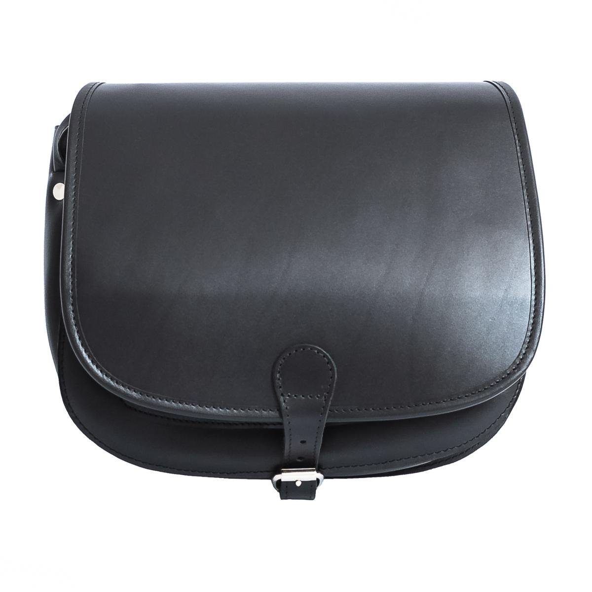 1f8b7f3e0 Black 11 Inches Leather Womens Saddle Bag | Hunters Handbag | Vegetable  Tanned Satchel Crossbody Bag: Amazon.co.uk: Luggage