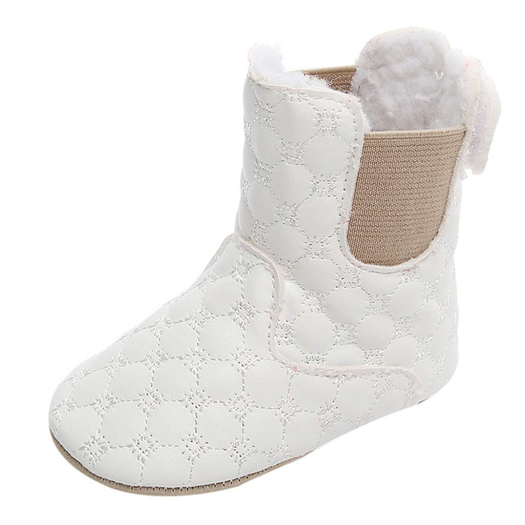 Newborn Toddler Baby Girls Solid Print Winter Warm Boots First Walkers Shoes Kariwell Snow Boots for Girls