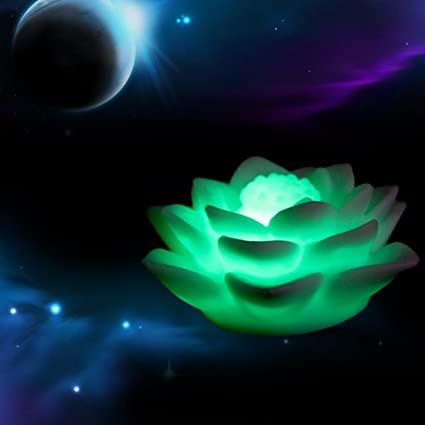 Fitions Romantic Lotus Flower Night Light Color Changing Lotus