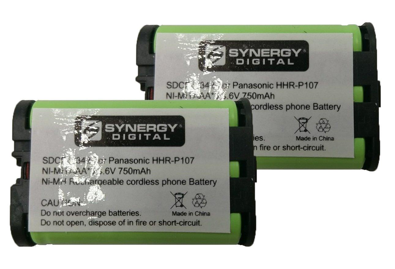 Panasonic HHR-P107 Cordless Phone Combo-Pack includes: 2 x BATT-107 Batteries