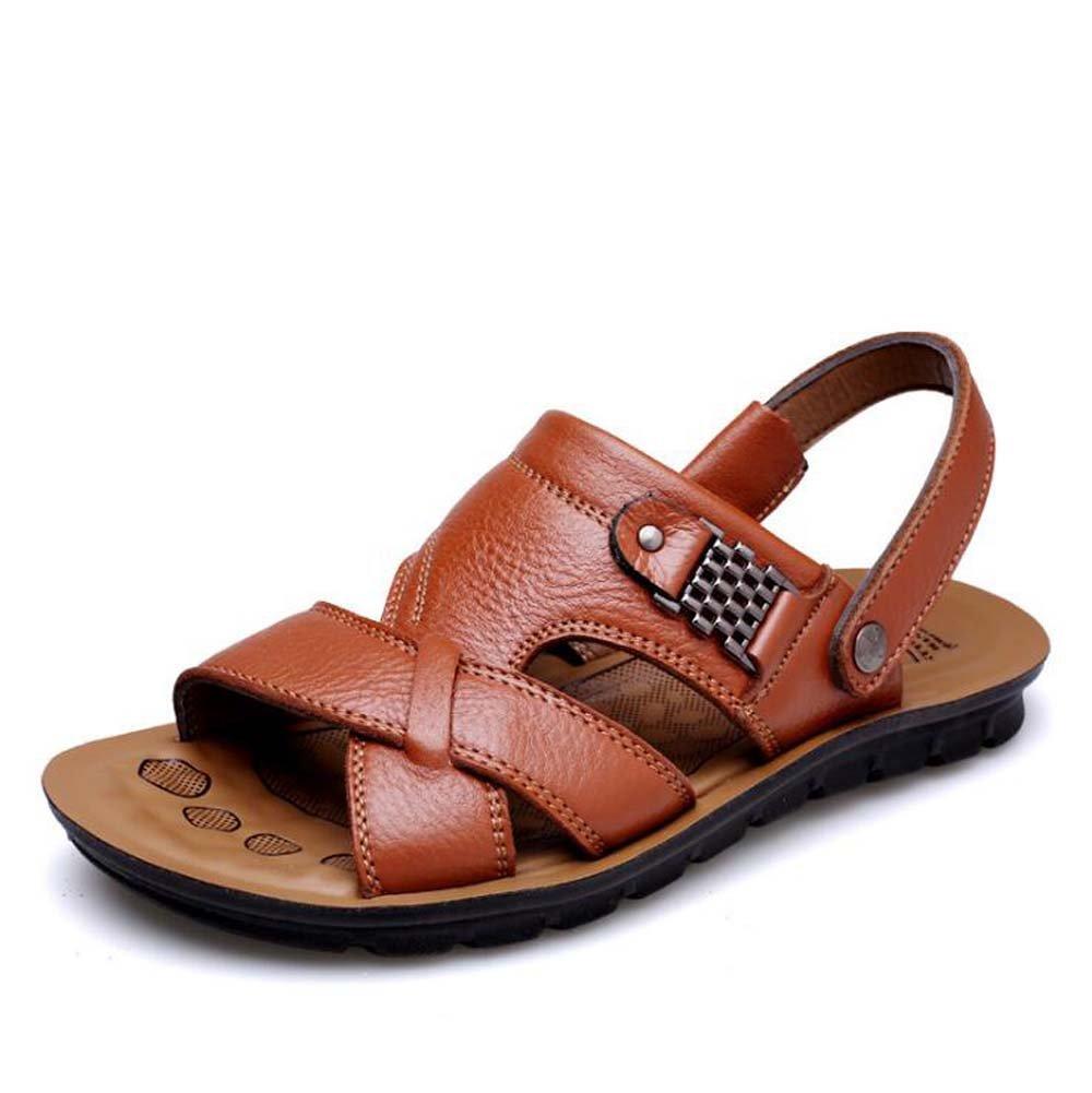 Männer Sandaleen Breathable Rutschfeste Sandaleen Casual Beach Sandaleen und Hausschuhe Dual-Use-Schuhe Schwarz/Braun/Gelb Größe 37-44 Outdoor