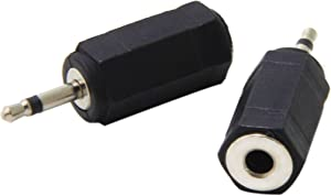 Harmony IR Adapters, Ancable 2-Pack 2.5mm Mono Plug to 3.5mm Mono Jack Connector for Logitech Harmony Hub and IR Blaster, IR Emitter Extenders, IR Repeaters, IR Receivers