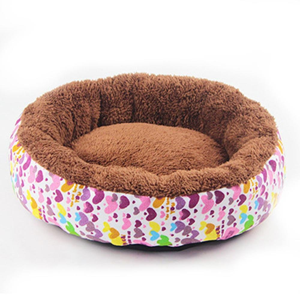 B 4012cmBiuTeFang Pet Bolster Dog Bed Comfort Canvas round breathable kennel warm cat nest