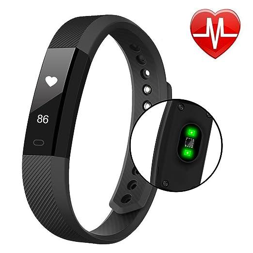 9 opinioni per Smart Bracciali, HuiHeng ID115HR Smart Wristband Bluetooth Attrezzo Watch