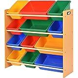 Giantex Toy Bin Organizer Kids Childrens Storage Box Playroom Bedroom Shelf Drawer
