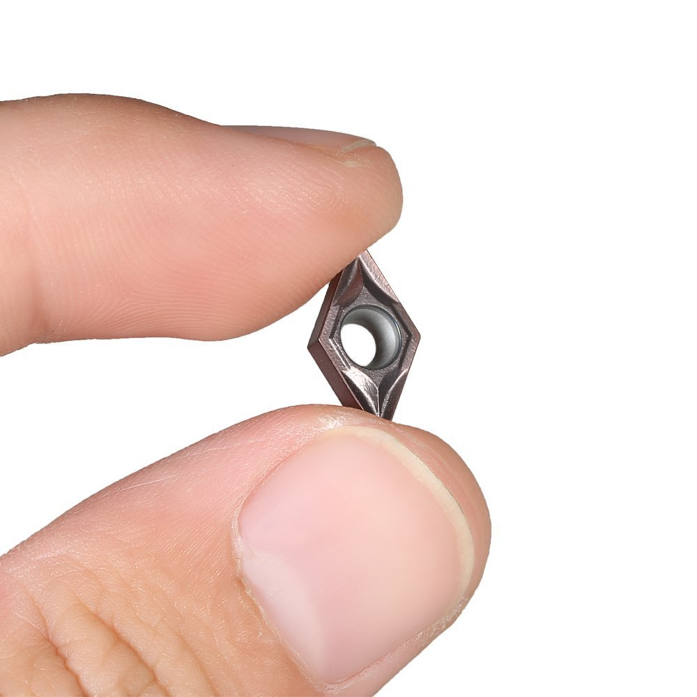 Fornateu Gold 10pcs CCMT060204 US735 CCMT21.51 Eins/ätze CNC-Drehschneidwerkzeugeins/ätze Ersatz f/ür die Verarbeitung von Edelstahl