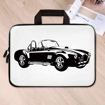 c90833848f72 Amazon.com: Cars Lightweight Neoprene Laptop Bag,Silhouette Classic ...