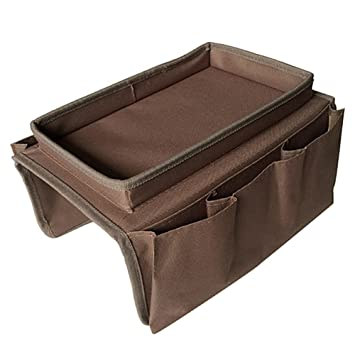 Amazon Com Sofa Armrest Organizer Couch Storage Bag With Cup Holder