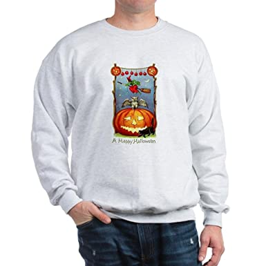 cafepress happy halloween witch sweatshirt classic crew neck sweatshirt